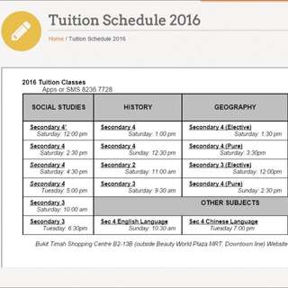 Humanities Tuition