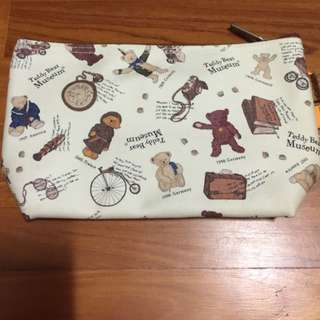 Brand New Teddy Bear Museum Cosmetic Pouch Case