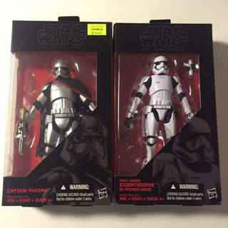 Star Wars Black Series Captain phasma And FO Stormtrooper
