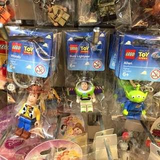 樂高玩具總動員可動鑰匙圈 胡迪 巴斯光年 三眼怪  LEGO toy story(贈樂高塑膠包裝小袋)