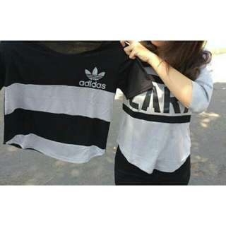 Kaos Adidas Stripes