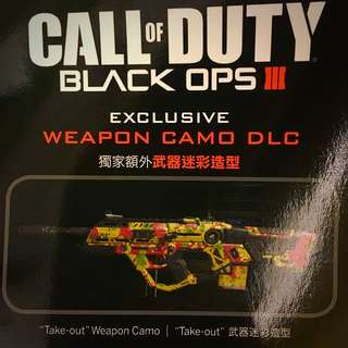 PS4 特典與T恤 Call Of Duty Black OPS3