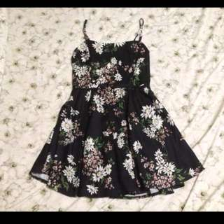 Black Floral Skirt Romper