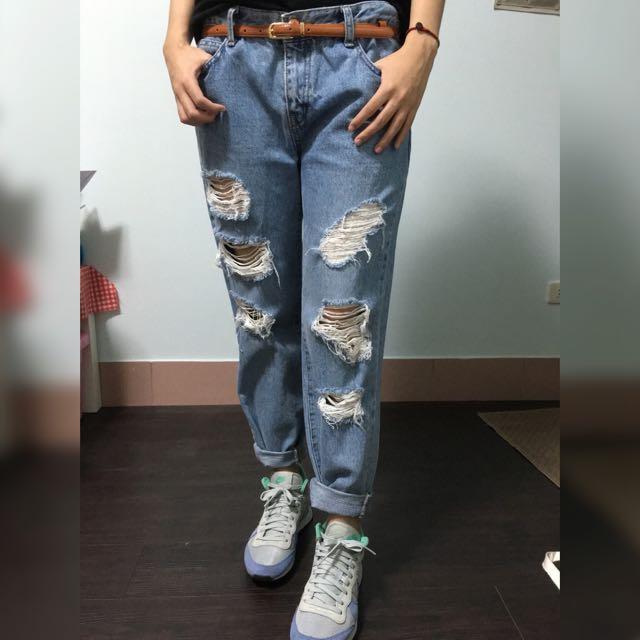 韓國男友牛仔褲