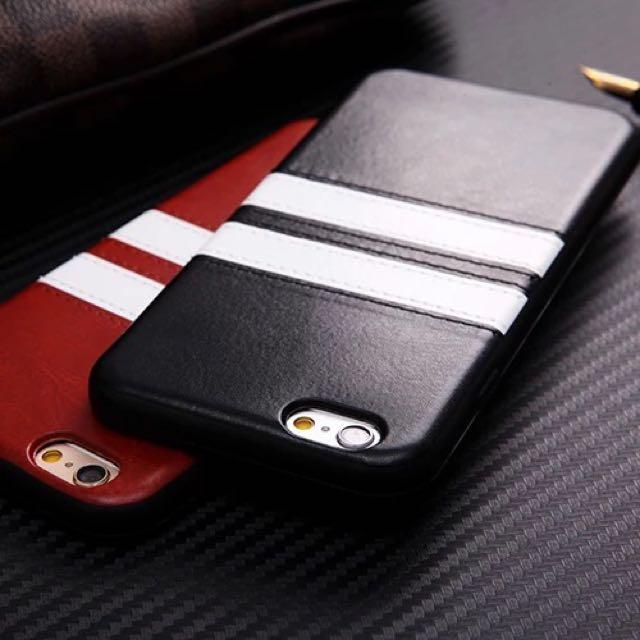 情侶款 黑白简约条纹 手機殼