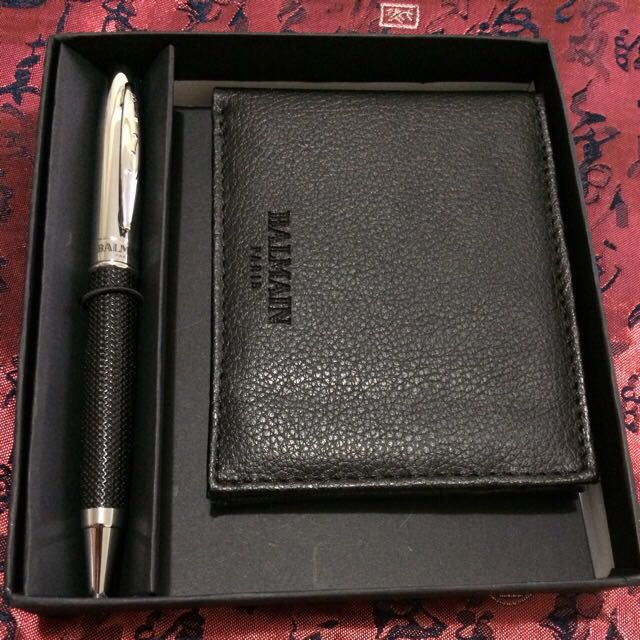 great fit recognized brands latest design ✅ Balmain Paris Pen and Wallet Gift Set, Men's Fashion on ...