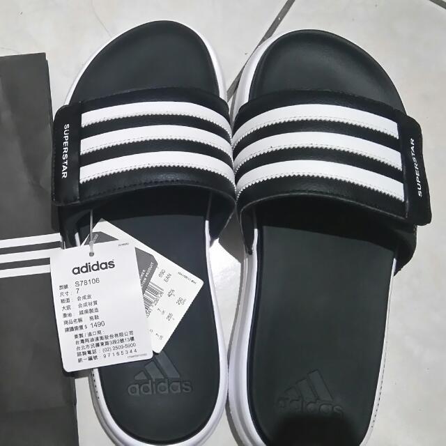 Adidas拖鞋  魔鬼氈黏貼