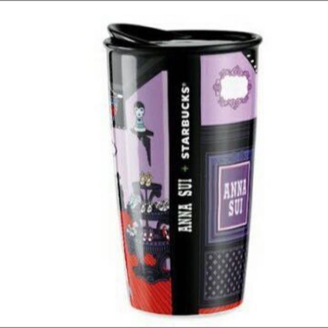 Anna Sui Starbucks 聯名 雙層馬克杯 各一