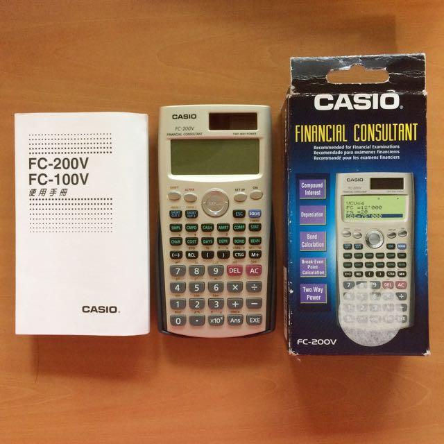 二手Casio FC200財務計算機