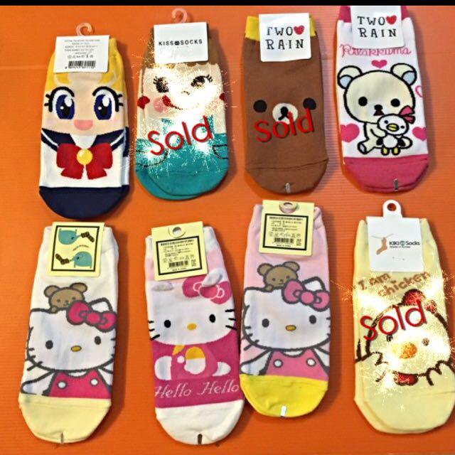 e4ffe32cc Cute And Trendy Korean Female Socks :)) Hello Kitty And rilakkuma ...
