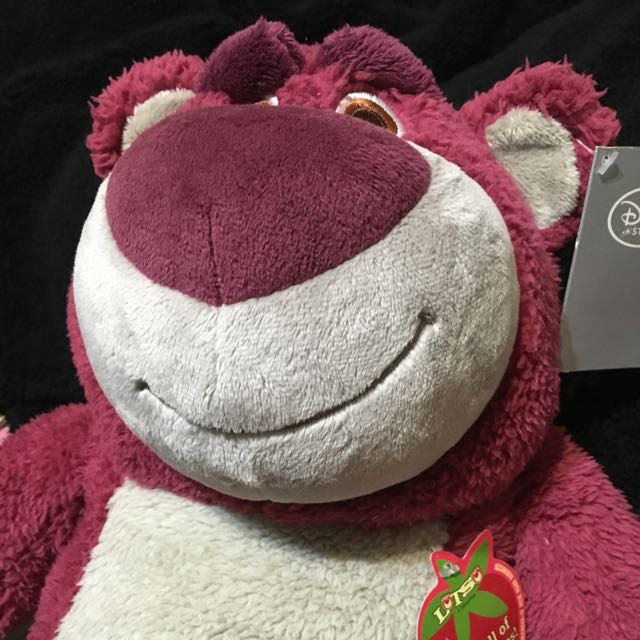 (全新)Disney Strawberry LOTSO 熊抱哥