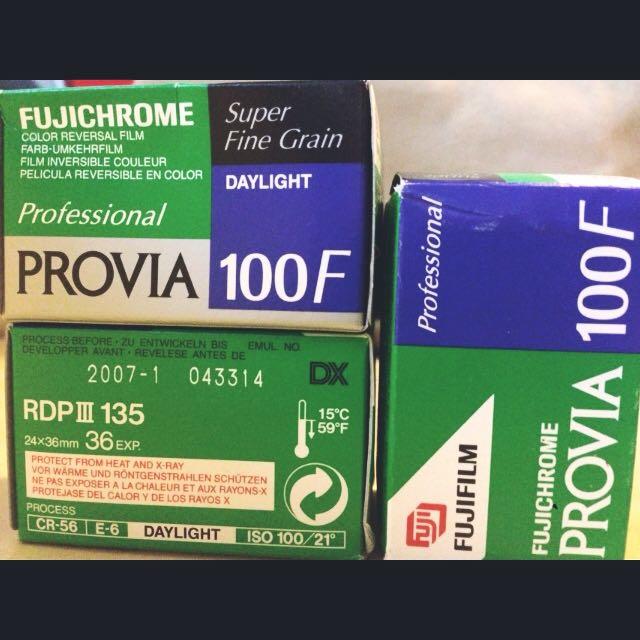 FUJICHROME Fujichrome Provia 100F RDP3 135底片 彩色正片 過期底片 買10送1