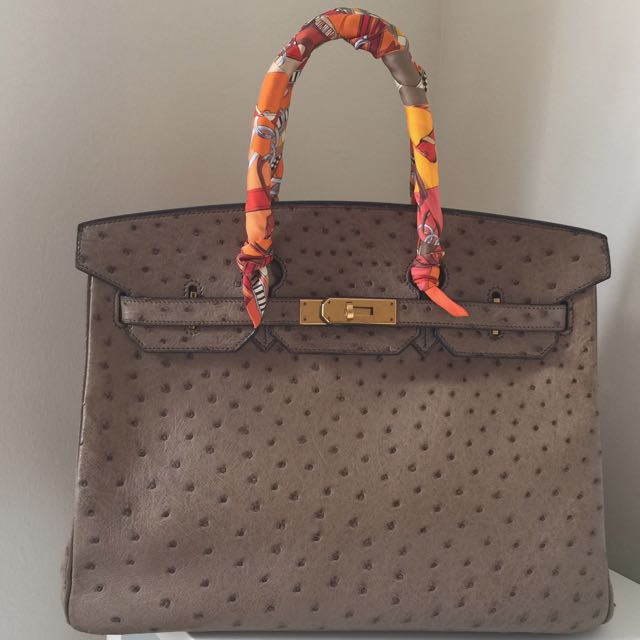 9121f70eb139 Good Price! Preloved Hermes Birkin 35 ostrich GHW