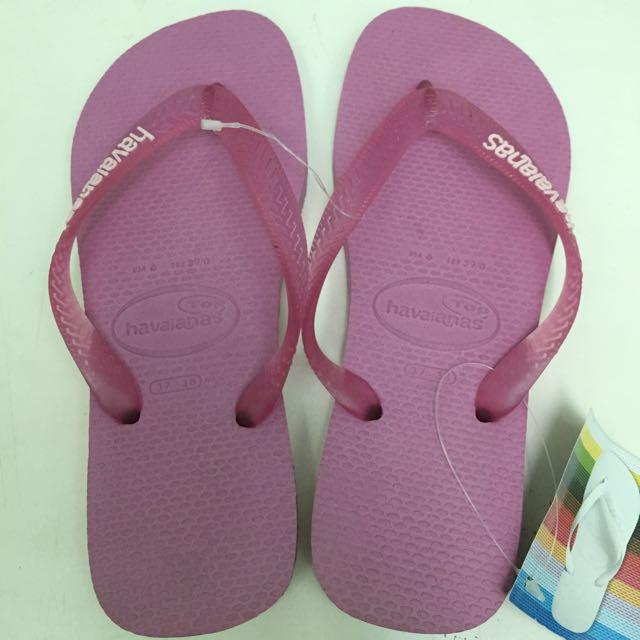 Havaianas 哈瓦仕 粉紅色 拖鞋 全新
