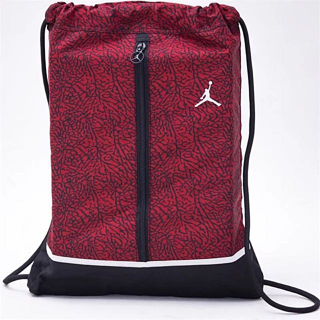 a0ac80f2be Nike Air Jordan AJ Basketball drawstring bag red pink yellow grey ...