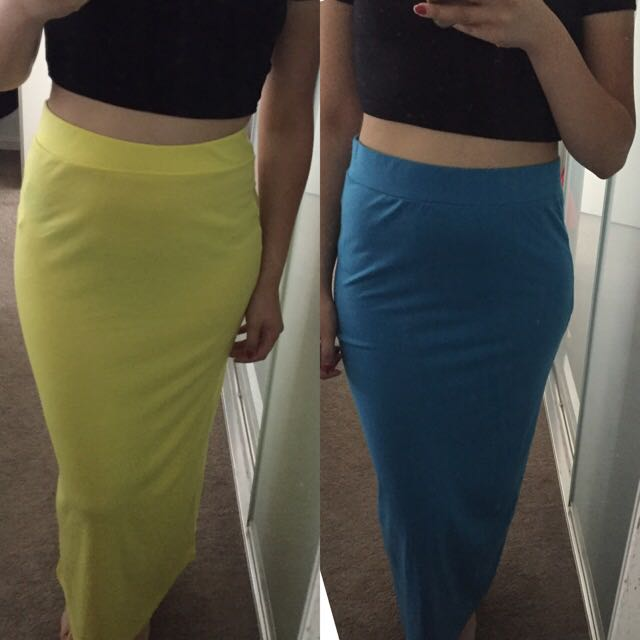 Yellow &/or Blue Summer Maxi Skirt