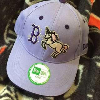 (二手)New Era 紅襪隊 棒球帽 紫色 REDSOX 兒童
