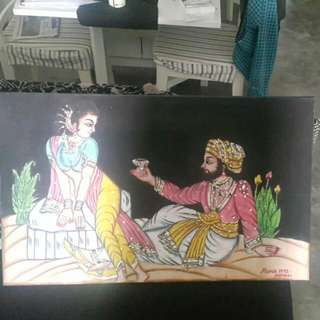 Indian Vintage Canvas Painting