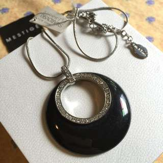 Mestige Black Crystal Necklace