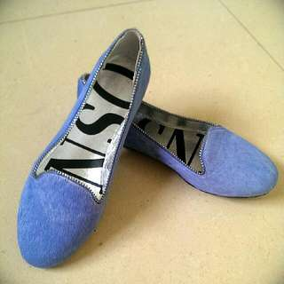 Senso Baby Blue Suede Flats