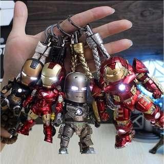 復仇者聯盟 鋼鐵人鑰匙圈 多款 可發光 公仔 多款造型鑰匙圈