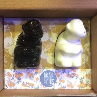 黑白彌猴~陶瓷胡椒、鹽罐