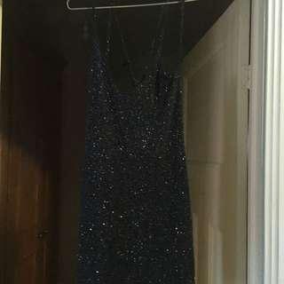 Charli XCX Sparkle Strappy Slip Dress, Size 8