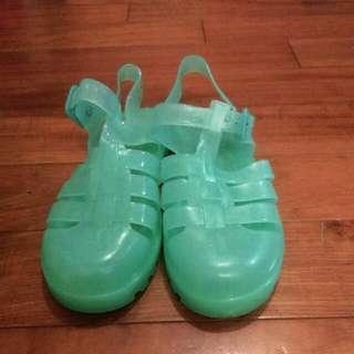 (降!)EU37 藍綠色果凍鞋