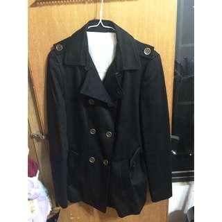Vieso 排扣 黑色大衣