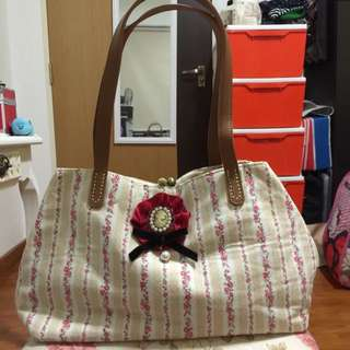 Handmade Floral Tote Shoulder Bag