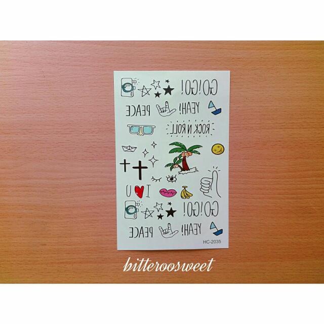 韓國3CE彩色刺青貼紙/紋身貼紙