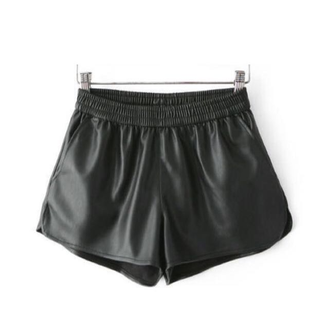 💛縮口皮短褲