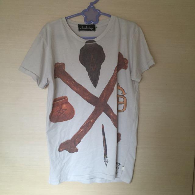 泰國設計塗鴉短袖上衣