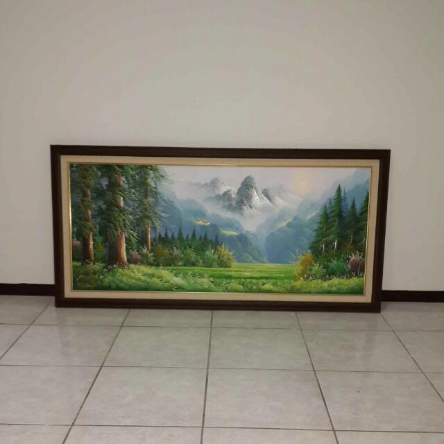 大幅錶框油畫
