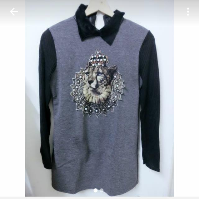 毛領豹頭長版衣