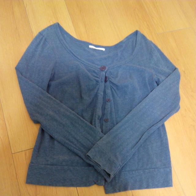 深藍薄外套 罩衫