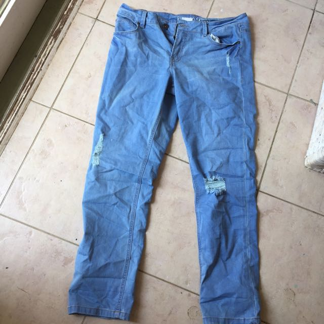 Brand-New Never Been Worn. Skinny Jeans With Rip