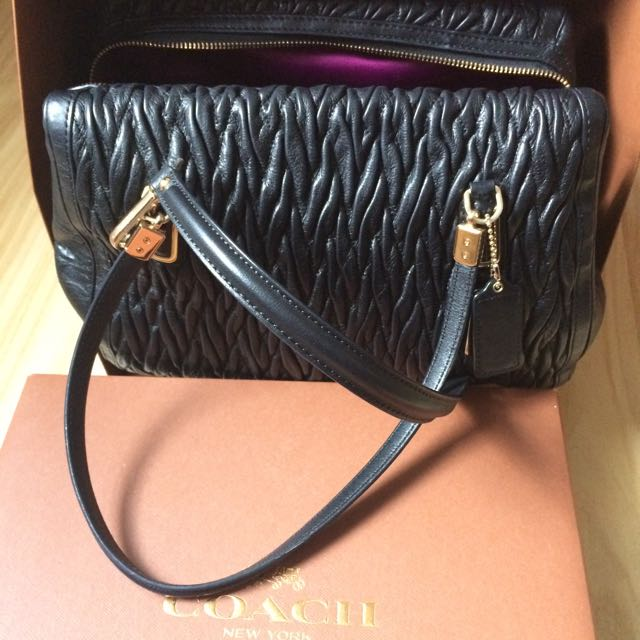 Coach Genuine Madison Gathered Twist Leather $ 350