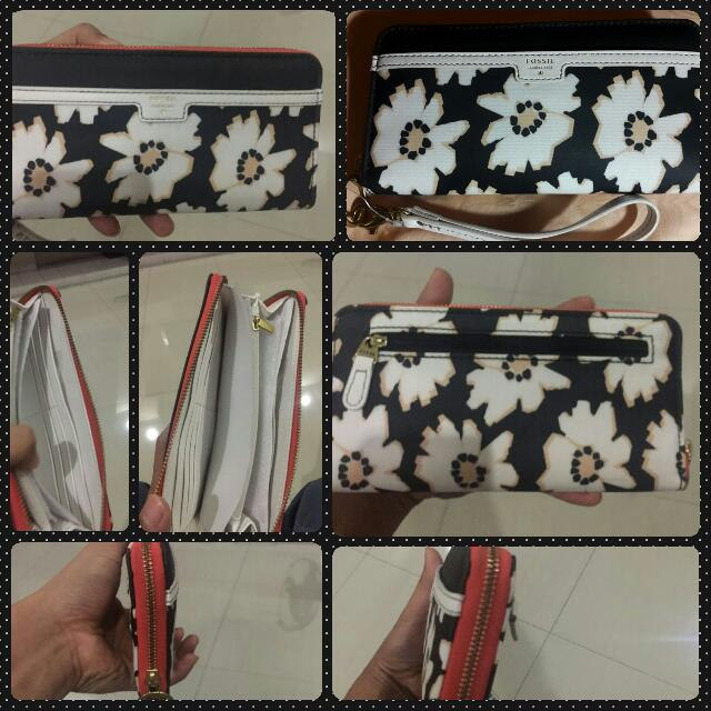 Fossil Wallet (Ivy Clutch Natural Floral)