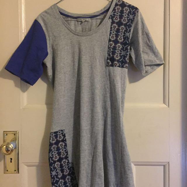 Grey Knee Length 'Fat Söng' Dress, Size 8