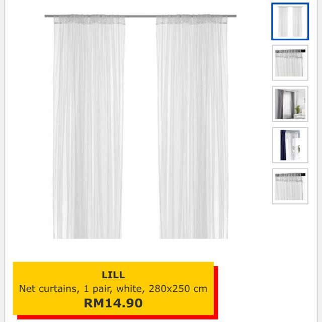 Ikea Lill Net Curtains