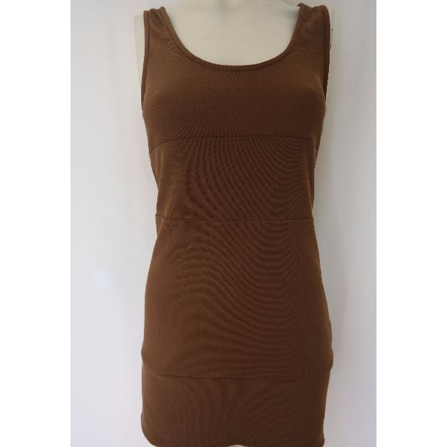 Maxim brown cut out dress size M