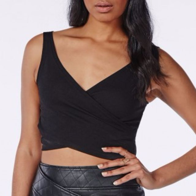 Misguided Black Crop Size S