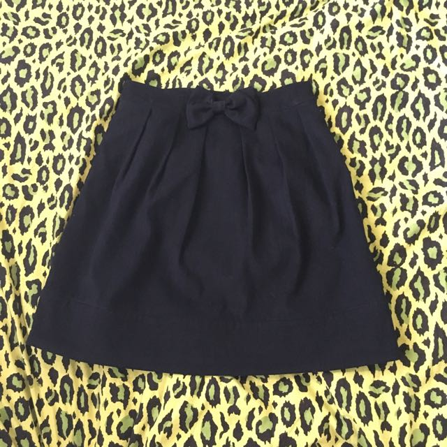 Navy Skirt With Bow Size Small