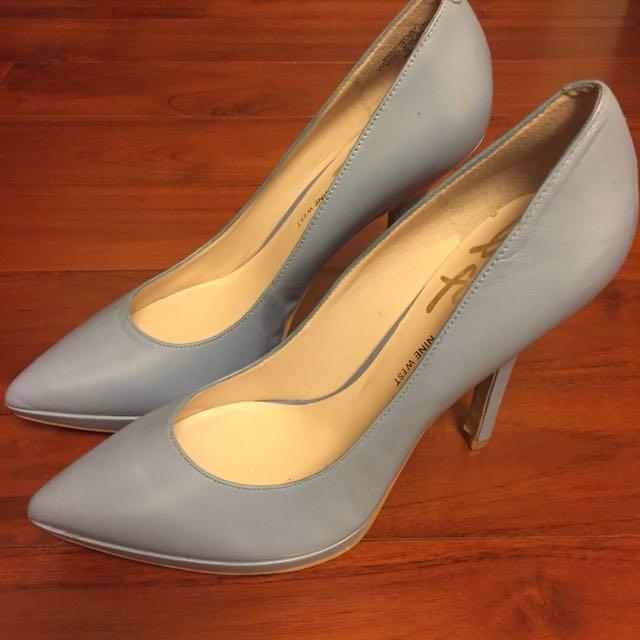 Nine West 水藍色高跟鞋 大約8-9公分高 鞋號8.5號