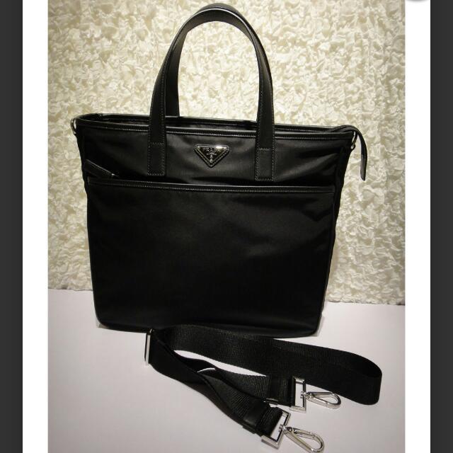 bdccdd9edfc0cf PRICE REDUCE* Prada PRADA 2Way shoulder bag men's slant sauce bag ...