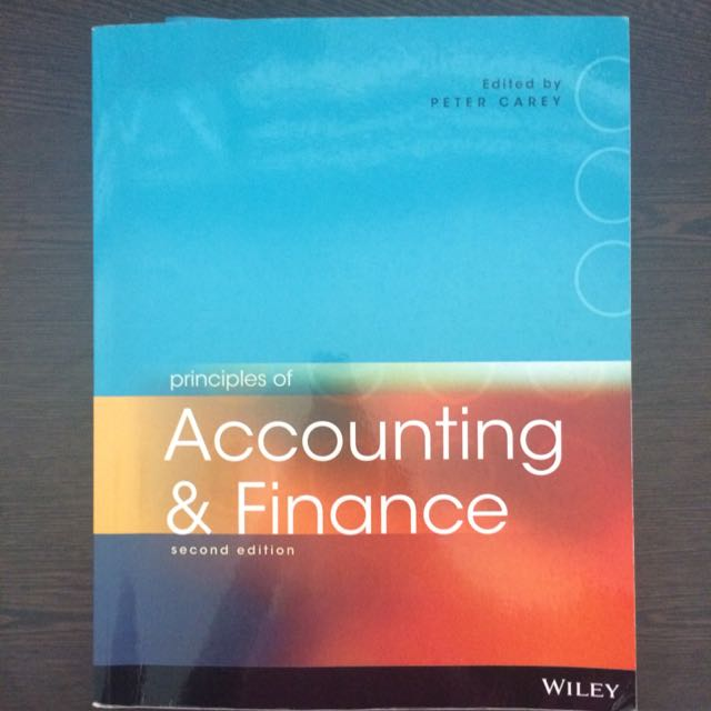 Principles Of Accounting & Finance