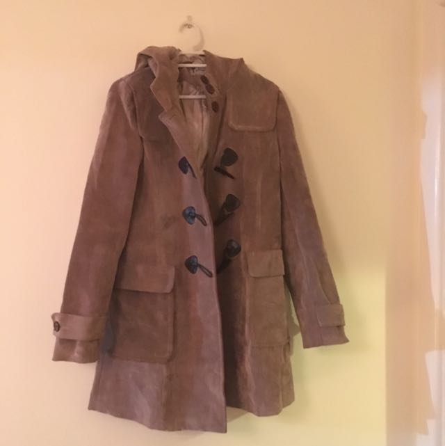 Size 8 Mid Length Brown Jacket