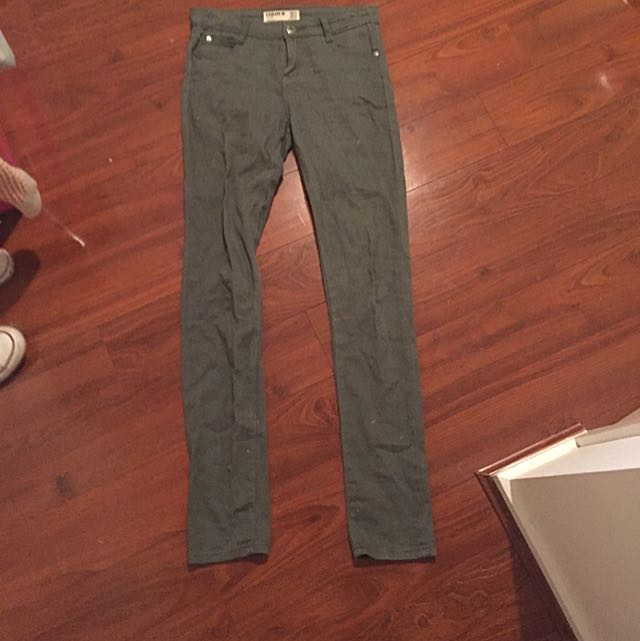 Size 8 olive green jeans