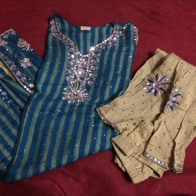 *RESERVED*Turquoise Punjabi Suit